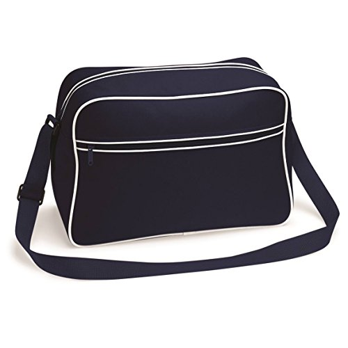 15 Bag Available by Large Colours Navy Shoulder BagBase French Retro White 6ZFwqnWP