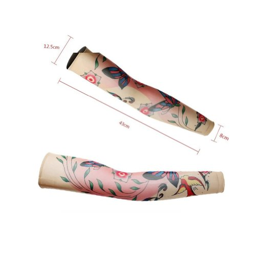 Panda Superstore Butterfly Tattoo Cycling Running Arm Warmers Cool Summer Arm Pro Arm Sleeves, M by Panda Superstore