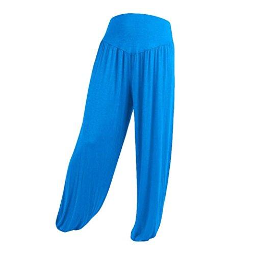 Harem Accogliente Yoga Monocromo Tempo Pantaloni Libero Donna Pantaloni Moda Pantaloni Eleganti Sciolto Pantaloni Waist Estivi Pluderhose Himmelblau Di Lanterna Elastico High Grazioso 6qqS5