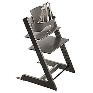 Stokke tripp trapp chair with baby set hazy for Stokke tripp trapp amazon