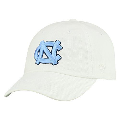 Top of the World NCAA Mens College Town Crew Adjustable Cotton Crew Hat Cap (North Carolina Tar Heels-White, Adjustable) ()