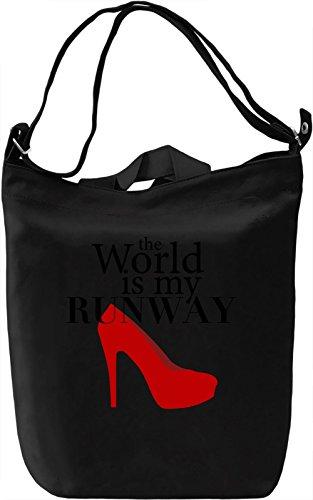 Runway Borsa Giornaliera Canvas Canvas Day Bag| 100% Premium Cotton Canvas| DTG Printing|