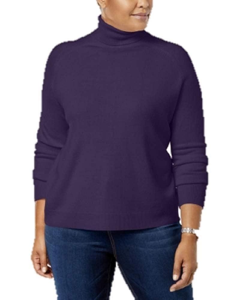 8f3bcc0071d Karen Scott Plus Size Luxsoft Turtleneck Sweater in Purple Dynasty ...