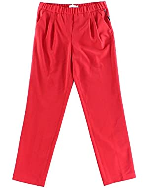 Calvin Klein Women's Petite Pull-On Gathered Pants Red 10P
