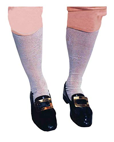 Forum Novelties High Knee Socks, Stockings for Colonial Costume - White - Teens -