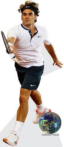 Celebrity Cutouts Roger Federer (Playing) Pappaufsteller lebensgross