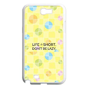 Don't Be Lazy Image On Back Phone Case For Samsung Galaxy Note 2 N7100
