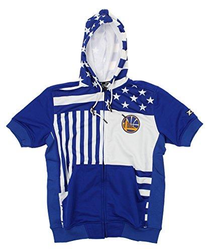 Zipway NBA Men's Flag Short Sleeve Hoodie, Team Options (Golden State Warriors, Large) ()