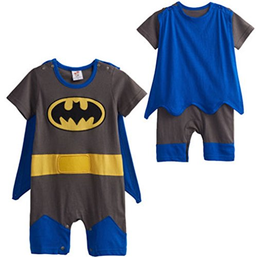 8e5f8462a3 LC Boutique Baby Boy Superhero Romper Costume for ages 3 Months to 3T.
