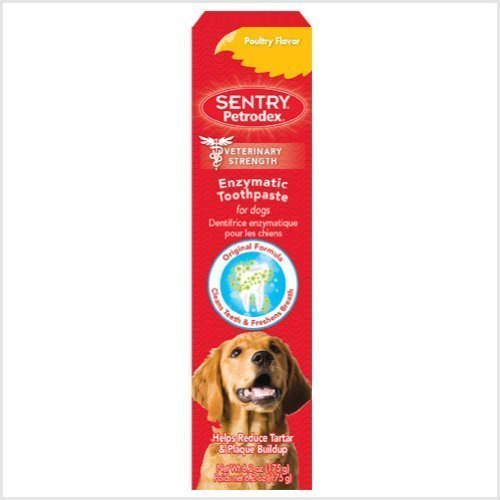 Petrodex Enzymatic Toothpaste Dog Poultry Flavor, 6.2-ounce (Pack of 6)
