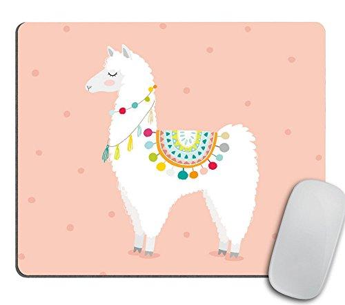 Cute Hand Drawn Llama Mouse Pad Mousepad - Mat - Rectangle - Llamas - Coworker Gift, Teacher Gift, Desk Accessories Cubical Decor