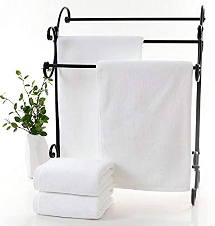 ZREED Toallas de baño 100% de algodón Egipcio Toallas Blancas de ...