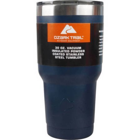 Ozark Trail 30-Ounce Double-Wall, Vacuum-Sealed Tumbler (Navy)