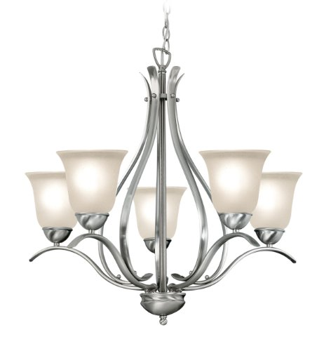 Woodbridge Lighting 10041-STN 5-Light Beaconsfield Chandelier, Satin Nickel