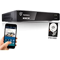 TIGERSECU 5MP Super HD 4-Channel Video Security DVR System, 2TB Hard Drive (Cameras Not Included)