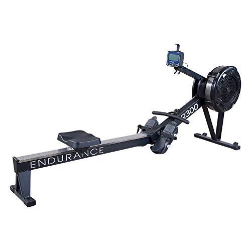 Serious Steel Fitness Body-Solid R300 Air Resistance Rower | Conditioning & Endurance Rower