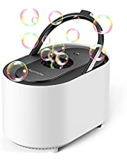 Aupmeka Bubble Machine for Kids Automatically Blows 3500+ Bubbles per Minute Professional, Portable, Battery Powered, Durable, High Output for Party, Stage, Birthday, Wedding. Indoor & Outdoor