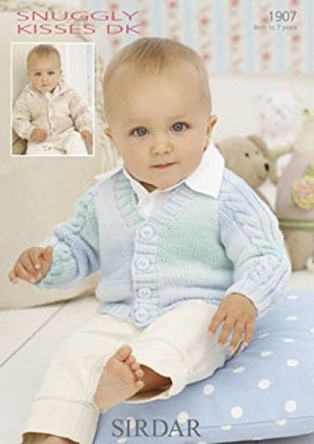 - Sirdar Baby Cardigans Knitting Pattern 1907 DK