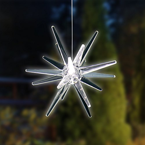 - Exhart Solar Hanging White Star
