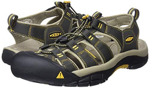 KEEN Men's Newport H2 Sandal, Raven/Aluminum, 10.5 M US