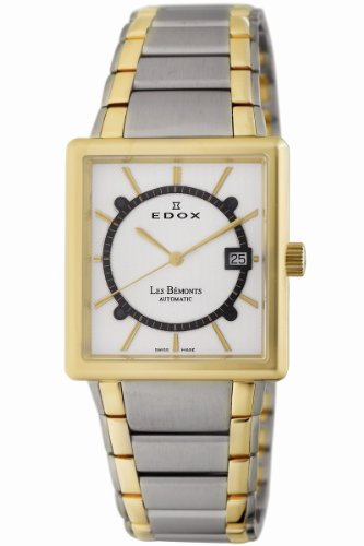 Edox Men's 82005 357J AID Les Bemonts Rectangular Automatic Watch