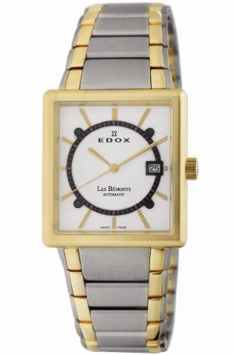 Edox Men's 82005 357J AID Les Bemonts Rectangular Automatic Watch