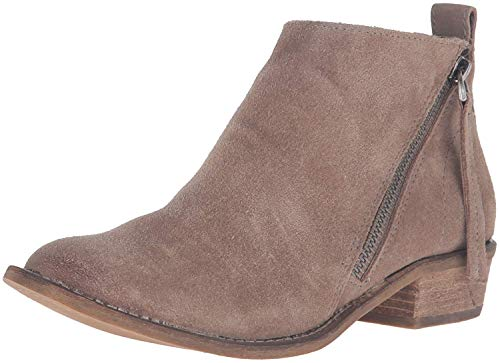 (Dolce Vita Women's Sibil Ankle Bootie, Dark Taupe Suede, 7.5 M US)