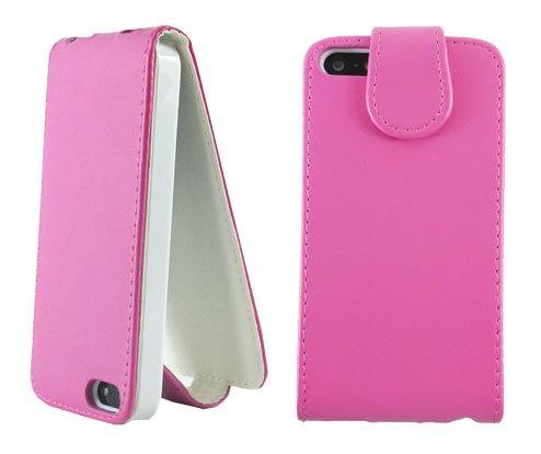 New Pink PU Leder Flip Handy Schutzhülle für Apple I Phone 55G
