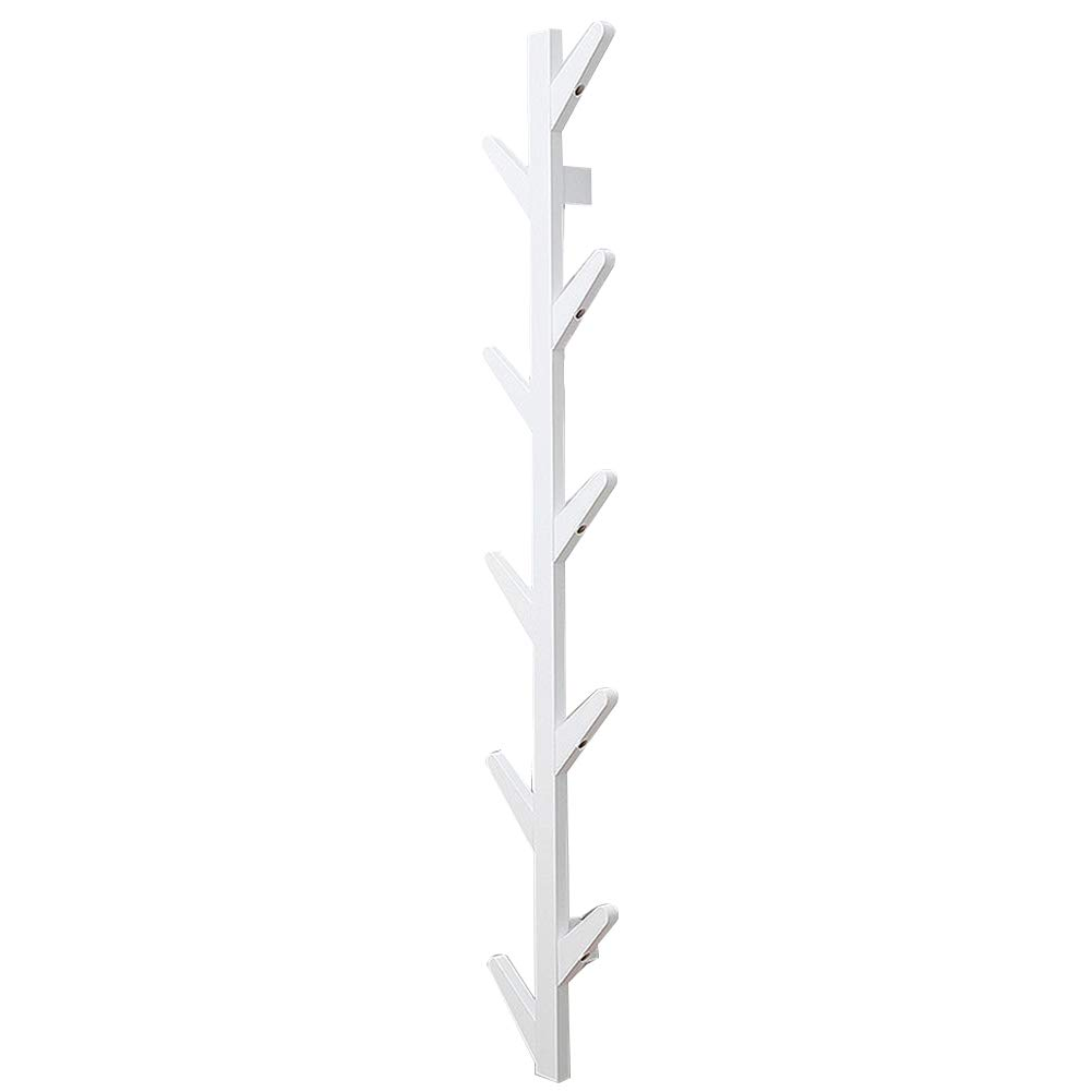 White 7x25x123cm XJRHB Wall-Mounted Tree, Bamboo 3 colors, 3 Sizes (color   White, Size   7x25x98cm)