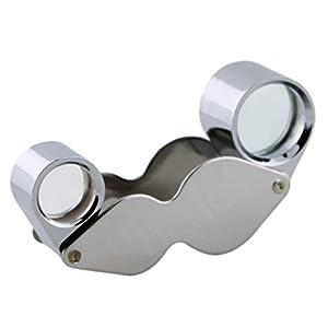 Quality Optics - 10x 20x Jewelers Loupe Pocket Magnifier Glass 2 Lens Double Loop