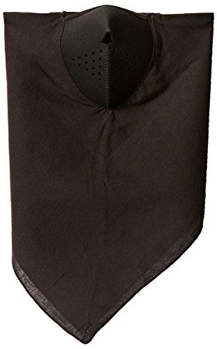 Zanheadgear WNEO114 NeoDanna Black Cotton Bandanna with Neoprene Half Face Mask ()