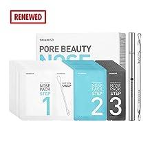 [SET] SKINMISO Blackhead & Pore Beauty Nose Mask Pack 3 Step System (10 Weeks Program) + Comedo Blackhead Remover