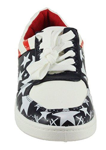 Voor Altijd Vrouwen Ultra-37 Lace-up Mode Sneakers Rood / Blauw