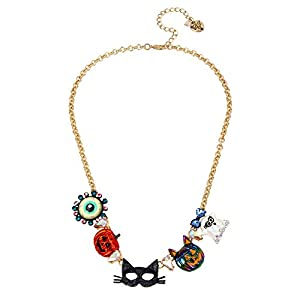 Best Epic Trends 41jH0Ta57yL._SS300_ Betsey Johnson Mask Frontal Necklace