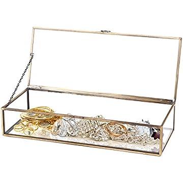 Amazoncom Clear Glass Keepsake Shadow Box with Vintage Brass