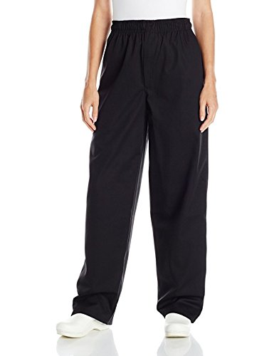Black Womens Chef Pants (Uncommon Threads Unisex Baggy Chef Pant, Black, Small)