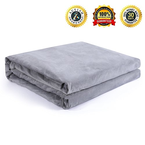 """Cover for Gravity Blanket, Removable Duvet Covers for Weighted Blanket Inner Layer Keeping Clean - JUST COVER, While Protecting The Heavy Sensory Blanket - Dark Grey 60""""x80"""""""