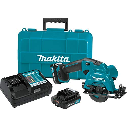 - Makita SH02R1 12V Max CXT Lithium-Ion Cordless Circular Saw Kit, 3-3/8
