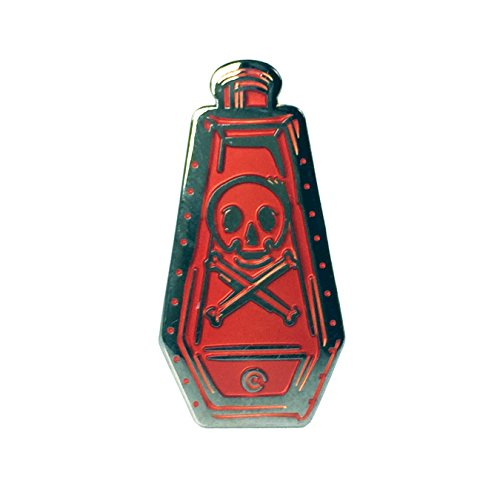 Replica Poison Bottle Enamel Pin - Red