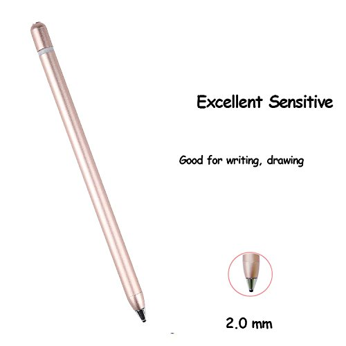 AMPLER Rechargeable Capacitive Stylus Digital Pen for Touchscreens, Touch Active Stylus Pen with 2.0 mm Fine Point Tip for iPad, iPhone, Good for Drawing, Writing - Rose Gold by AMPLER (Image #2)