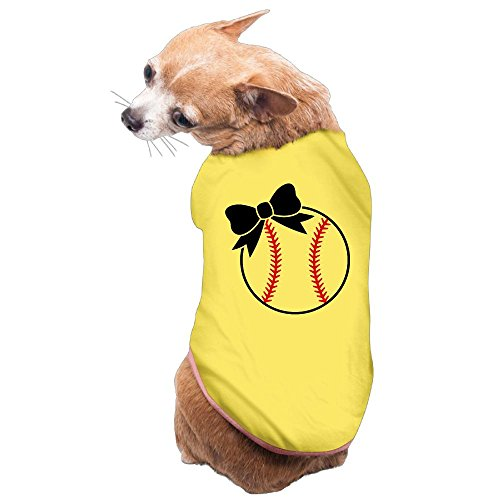 Dog Cat Pet Shirt Clothes Puppy Vest Soft Thin Softball Bow 3 Sizes 4 Colors Available Review