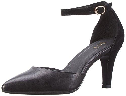 a T rack Multicolore Polina Donna Scarpe Tacco Black Shoe 110 con col Cinturino 0fUU8