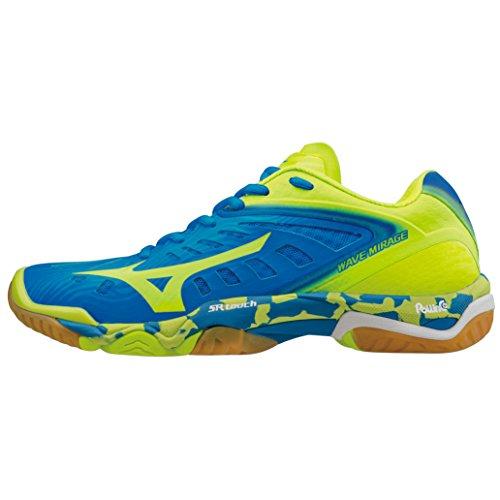 Chaussures Mizuno Wave Mirage jaune fluo/bleu/blanc