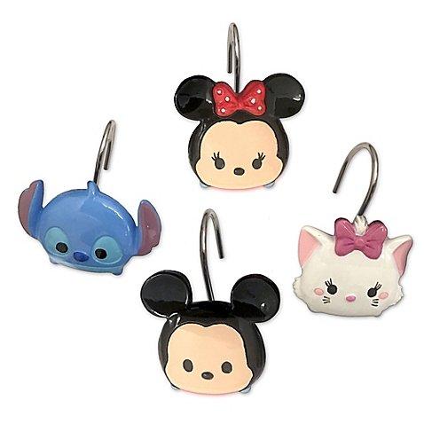 Disney Tsum Tsum Stacks on Stacks Shower Curtain Hooks -