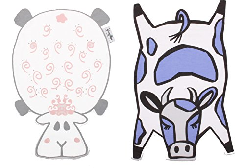 2-bundle-animal-shaped-baby-burp-cloths-cow-sheep-patterns-infant-burp-pads-soft-xxl-12x18in-unique-