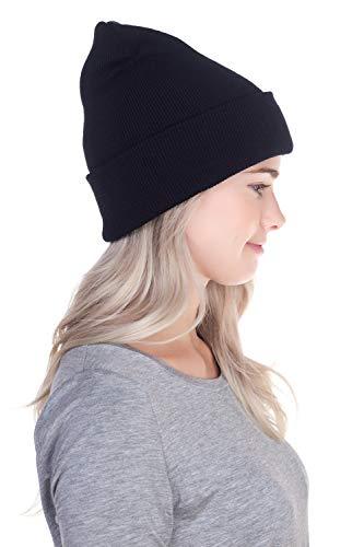 8df99e4865f Top Level Unisex Cuffed Plain Skull Beanie Toboggan Knit Hat Cap ...