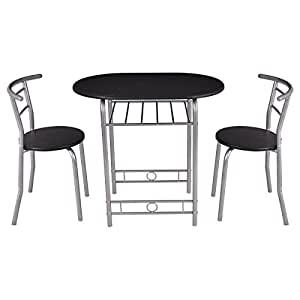 Amazon.com - Giantex 3 PCS Bistro Dining Set Table and 2 Chairs ...
