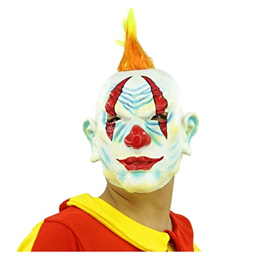 Various Funny Clown Latex Mask and Costume Suit Full Head Halloween Party Prop (C. Cool Hair Clown Mask) for $<!--$13.01-->
