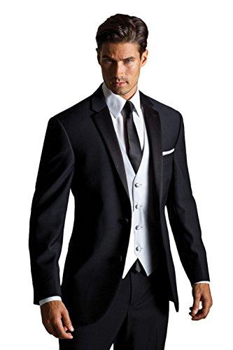 AK Beauty Men's Three Piece Formal Suit (Jacket+Pants+Vest) S