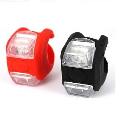 Yuhemii 1?Paire à LED pour vélo pour vélo support à Fourchette pour guidon Selle Grenouille Rouge et Blanc Clair